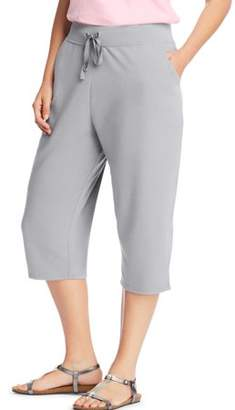 Just My Size Women's plus-size french terry pocket capri