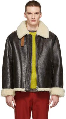 Acne Studios Brown Shearling Jacket