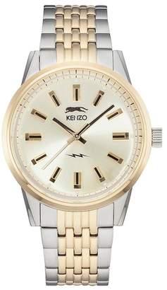 KENZO Men's 7 Two-Tone Bracelet Watch $349 thestylecure.com