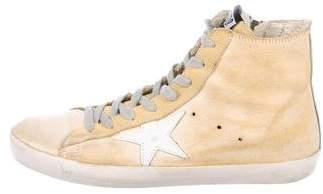 Golden Goose High-Top Suede Sneakers