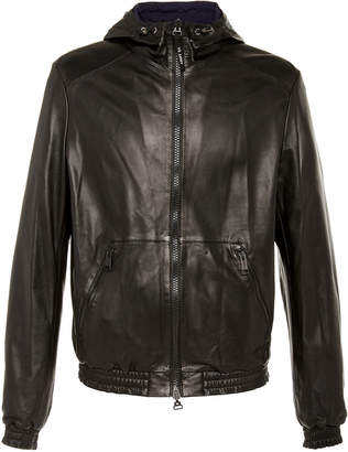 Yves Salomon Paris Reversible Hooded Leather And Shell Jacket
