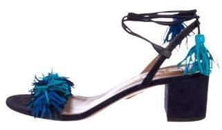 Aquazzura Wild-Thing Suede Sandals