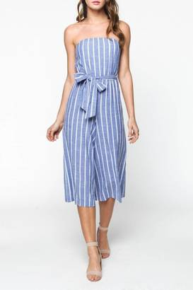 Everly Strapless Striped Jumpsuit $72 thestylecure.com