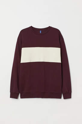 H&M Color-block Sweatshirt - Red