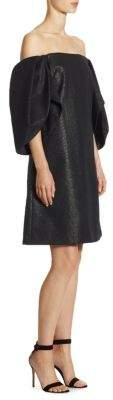 Halston Metallic Knee-Length Dress
