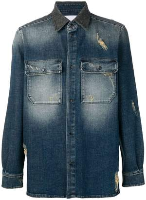 Low Brand washed denim shirt