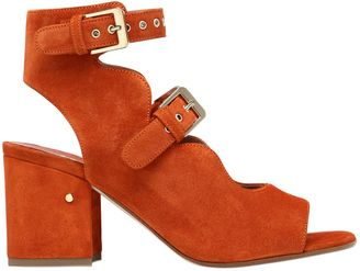 70mm Noe Suede Double Buckle Sandals $830 thestylecure.com