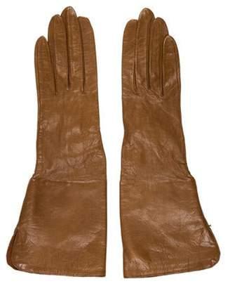 Chanel Lambskin CC Gloves Brown Lambskin CC Gloves