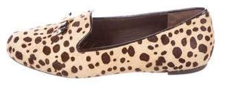 Tory Burch Ponyhair Cheetah-Print Loafers