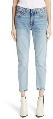 R 13 Milf Straight Leg Jeans