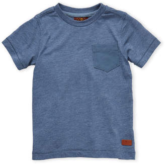7 For All Mankind Boys 4-7) Blue Pocket Tee
