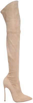 120mm Blade Stretch Suede Boots $1,400 thestylecure.com