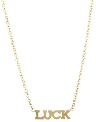 Chicco Zoe Itty Bitty 14K Gold LUCK Necklace