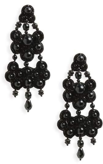 Beaded Chandelier Drop Earrings