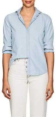 Barneys New York Women's Cotton Chambray Shirt - Blue