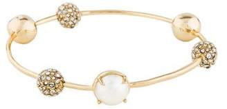 Alexis Bittar Crystal & Faux Pearl Bangle