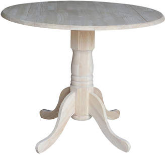 Asstd National Brand Unfinished Dual Drop Leaf Round Wood-Top Dining Table