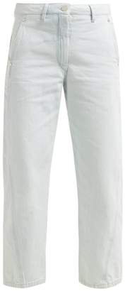 Lemaire High Rise Wide Leg Jeans - Womens - Light Blue