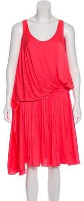 Lanvin Pleated Midi Dress