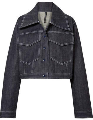 Michael Lo Sordo - Holly Cropped Denim Jacket - Dark denim