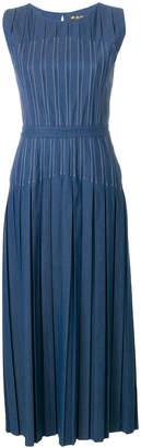 Loro Piana inverted pleat fitted denim dress