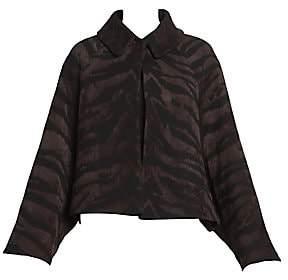 Alaia Women's Zebra Knit Short Swing Jacket