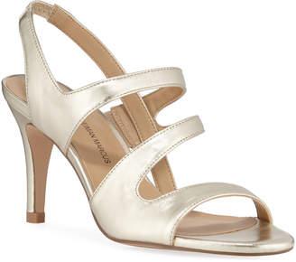 Neiman Marcus Brit High-Heel Metallic Dress Sandals