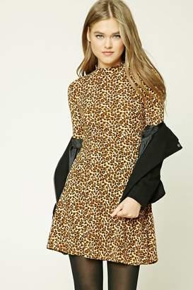 Forever 21 Cheetah Print Skater Dress