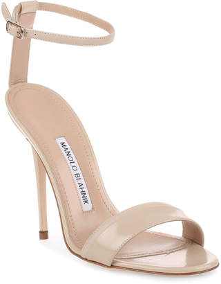 Manolo Blahnik Spezia 115 beige leather sandal