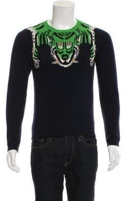 Gucci 2017 Tiger Wool Intarsia Sweater