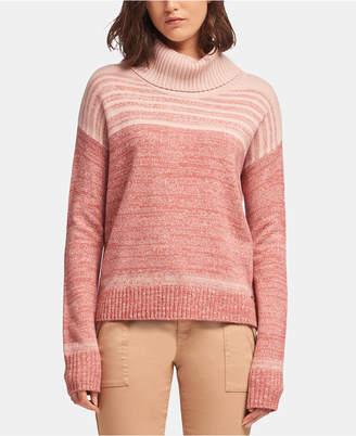 DKNY Marled-Striped Cowlneck Sweater