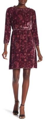 Rebecca Taylor Long Sleeve Velvet Dress