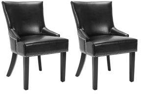 Safavieh Lotus Set of Two Nail Heads Side Chairs