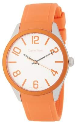 Calvin Klein Men's Color Silicone Strap Watch, 40mm