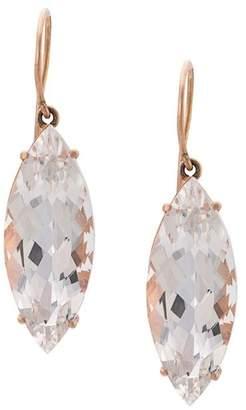 Andrea Fohrman 18kt rose gold rock crystal marquis earrings