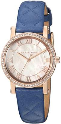 Michael Kors Women's 'Petite Norie' Quartz Stainless Steel and Leather Casual Watch