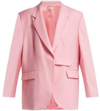 Natasha Zinko Single Breasted Tab Wool Blazer - Womens - Light Pink