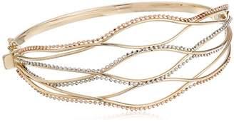 14k Gold Bead Bangle Bracelet