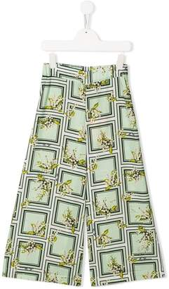 Miss Blumarine printed trousers