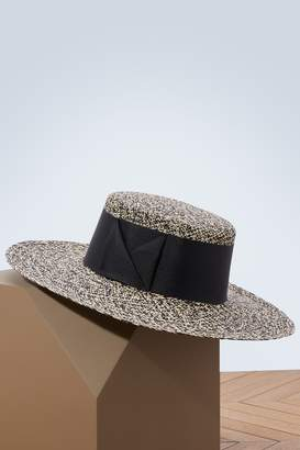 Sensi Studio Panama hat with large ribbon