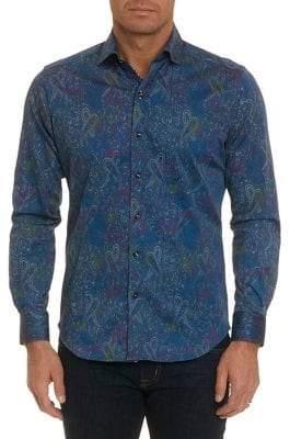Robert Graham Long-Sleeve Button-Down Paisley Shirt