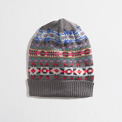 J.Crew Factory Factory Fair Isle stripe hat