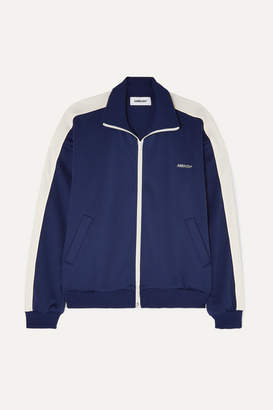 Ambush Striped Satin-jersey Track Jacket - Navy