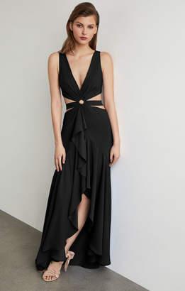 BCBGMAXAZRIA Cutout High-Low Gown