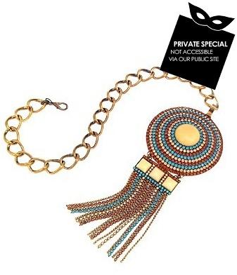 Ileana Creations Ethnic Swarovski Crystal Medallion & Chain Necklace
