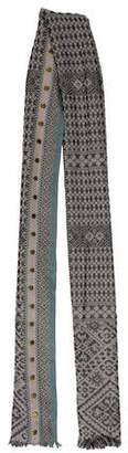 Hoss Intropia Embellished Fine Knit Scarf w/ Tags