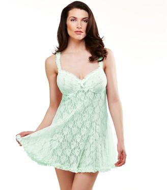 Lunaire Lace Babydoll & Panty Lingerie Set 4214K