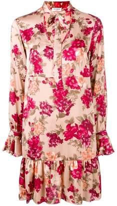 Twin-Set floral long-sleeve dress