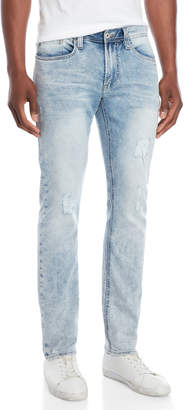 Buffalo David Bitton Acid Wash Evan-X Slim Stretch Jeans