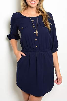 Lila Navy Pockets Dress